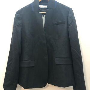 J crew black regent blazer size 16